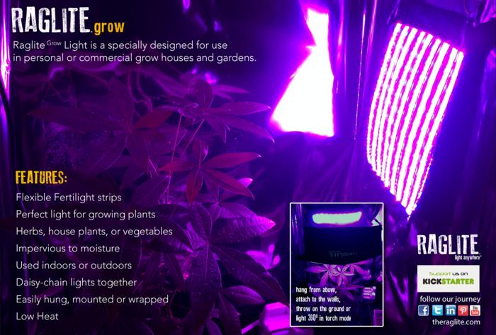 Tấm khăn LED RagLite: độc đáo và linh hoạt